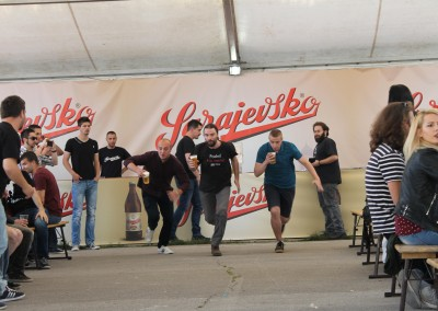 The tent of the Sarajevo Brewery is the most visited one at the Beer Festival…