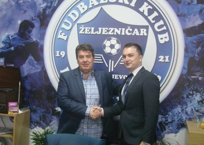 On the occasion of its 152 years of existence Sarajevska pivara donated 152 chairs to FC Zeljeznicar
