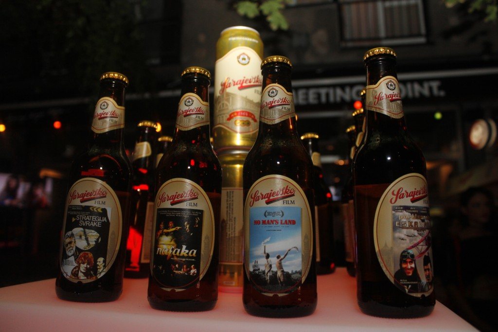 Sarajevsko party: New Sarajevo Film beer cans and bottles with BiH movie posters presented
