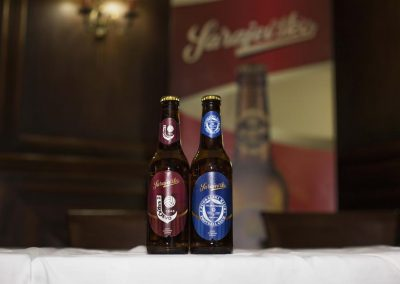 Sarajevsko beer with emblems of FC Željezničar and FC Sarajevo will be available to supporters of city rivals